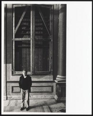 Steve Austen in Felix Meritis, ca. 1995. Foto: Bob van Dantzig. Collectie TIN.