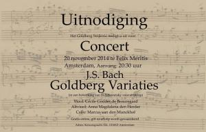 Uitnodiging Goldberg Variations